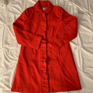 Old Navy Coral Knee-Length Coat